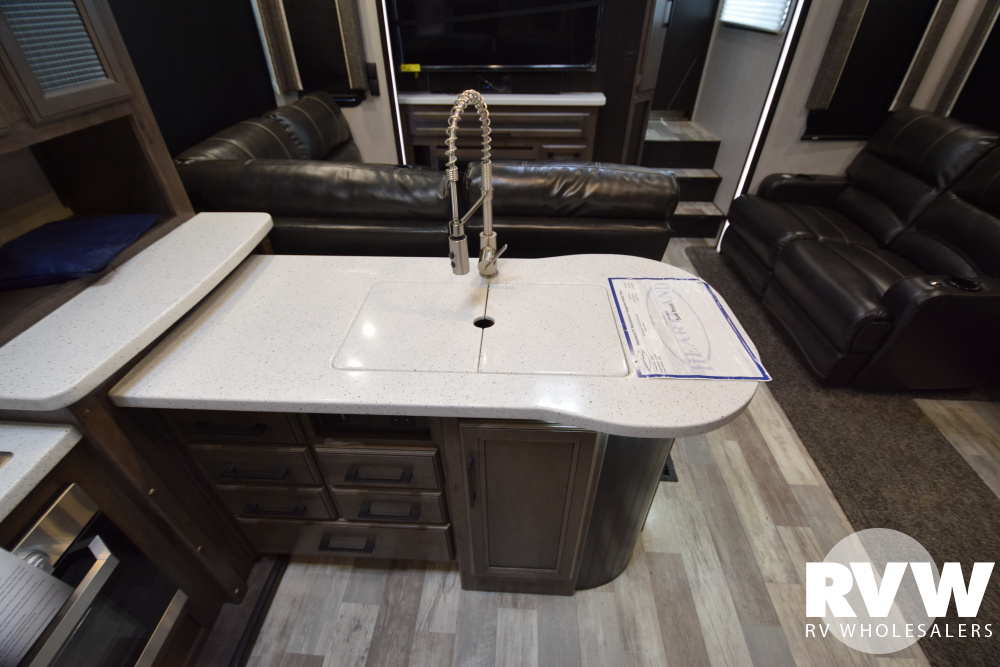 Click here to see the New 2020 Cyclone 3600 Toy Hauler Fifth Wheel by Heartland at RVWholesalers.com