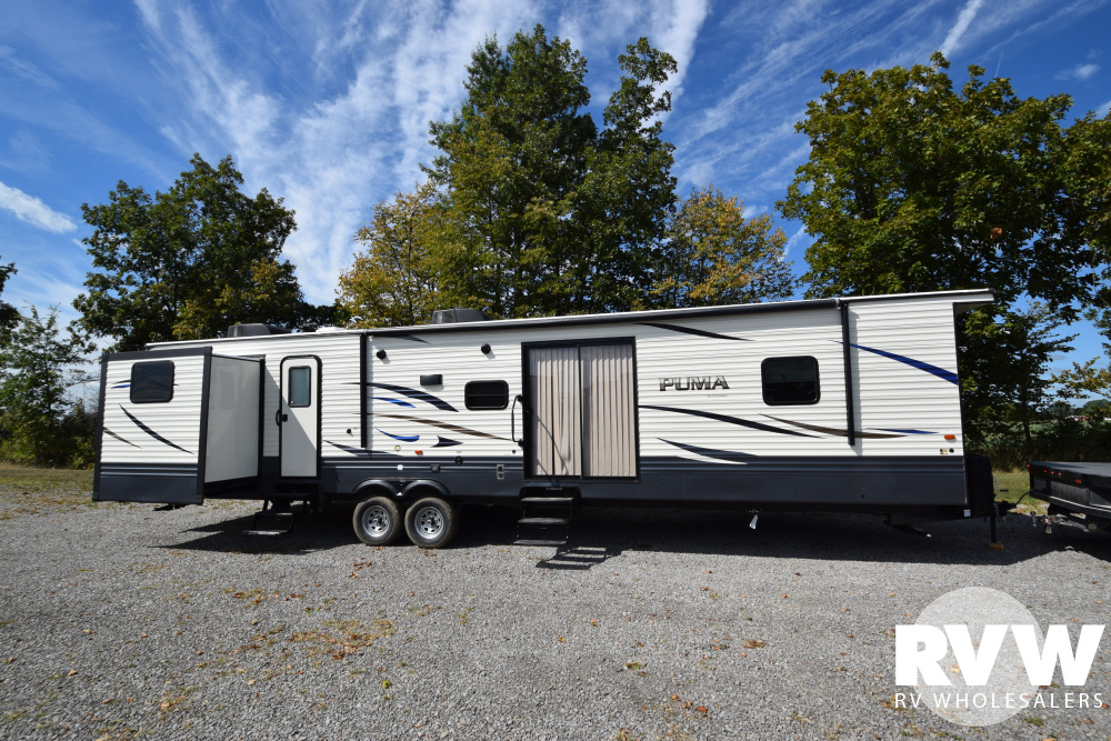 Click here to see the New 2020 Puma Park 39PQB Park Trailer by Palomino at RVWholesalers.com