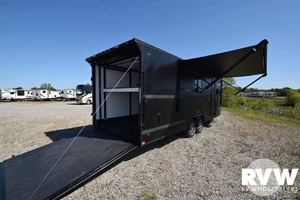 Click here to see the New 2020 Nomad 24FK Toy Hauler Travel Trailer by Stealth at RVNation.us