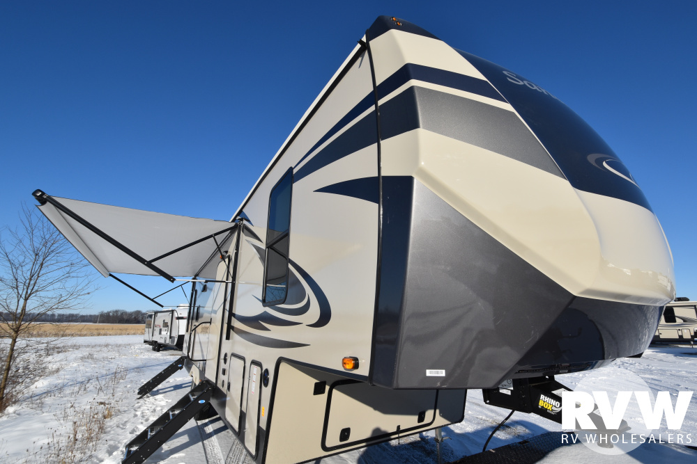Click here to see the New 2020 Sandpiper C-Class 3330BH Fifth Wheel by Forest River at RVWholesalers.com