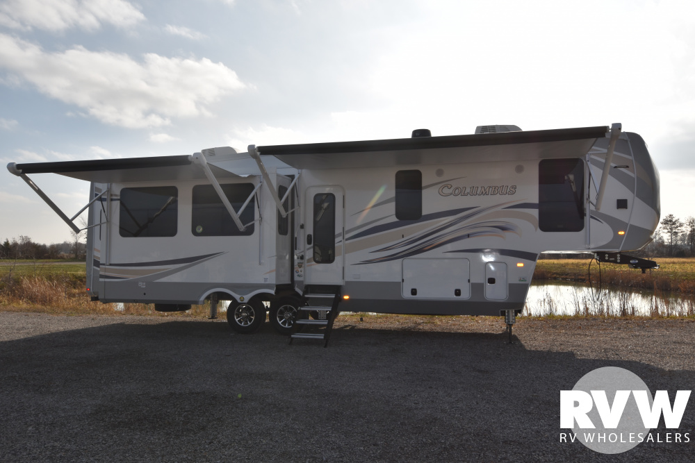 Click here to see the New 2020 Columbus 329DV Fifth Wheel by Palomino at RVWholesalers.com