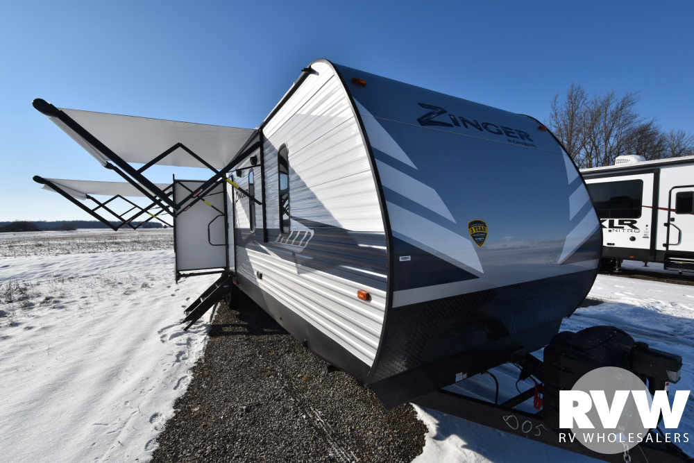 Click here to see the New 2020 Zinger 340RE Travel Trailer by Crossroads at RVWholesalers.com