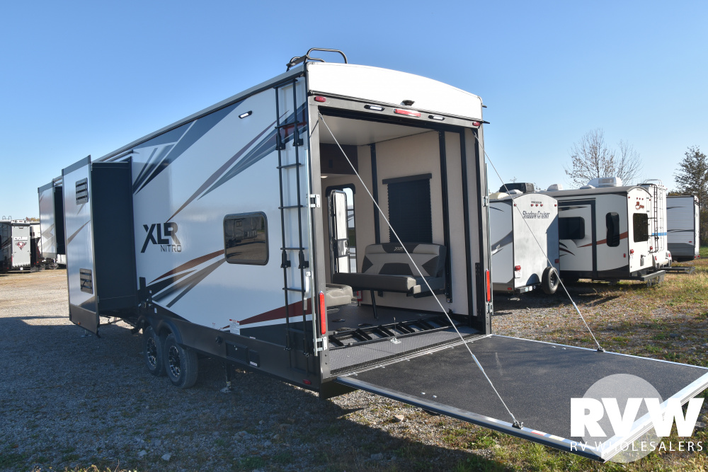 Click here to see the New 2020 XLR Nitro 321 Toy Hauler Fifth Wheel by Forest River at RVWholesalers.com