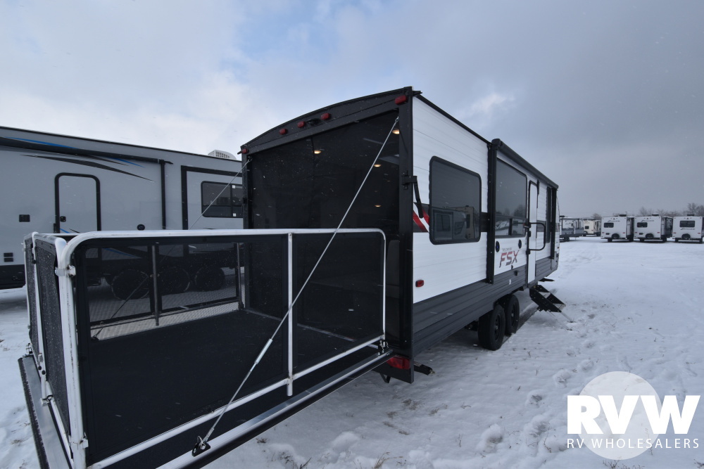 Click here to see the New 2020 Wildwood FSX 260RT Toy Hauler Travel Trailer by Forest River at RVWholesalers.com