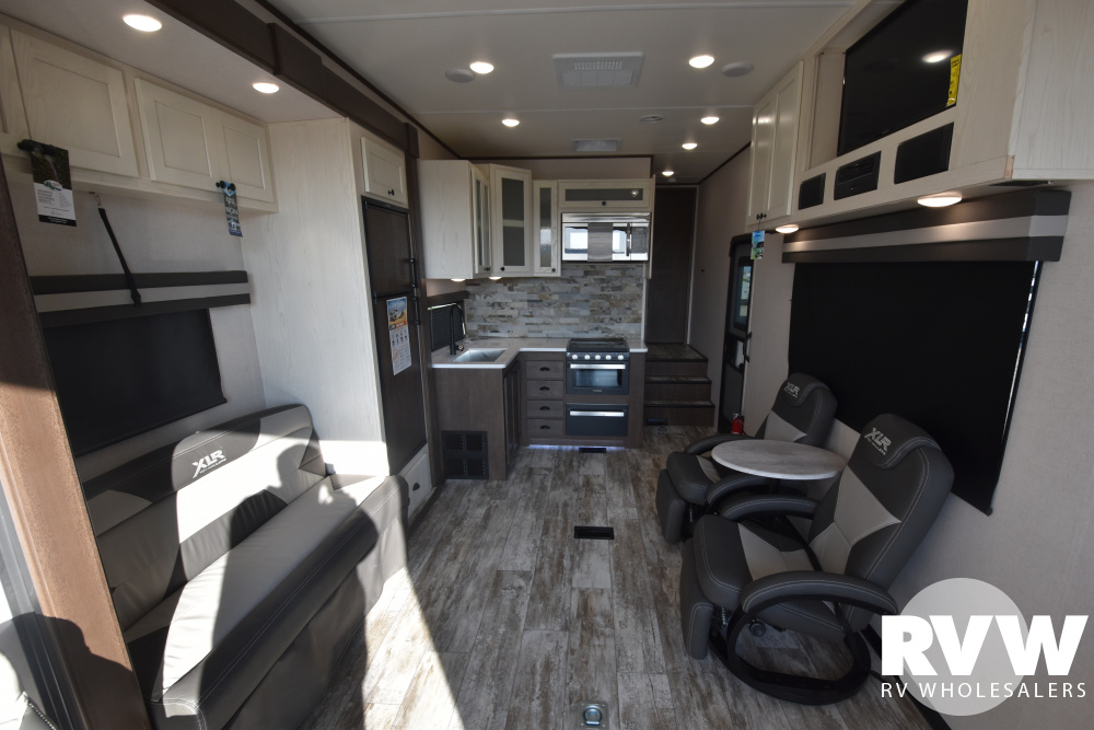 Click here to see the New 2020 XLR Nitro 28DK5 Toy Hauler Fifth Wheel by Forest River at RVWholesalers.com
