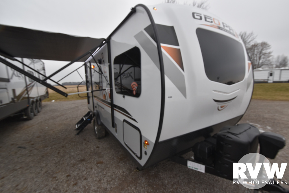 Click here to see the New 2020 Rockwood Geo Pro G19QB Travel Trailer by Forest River at RVWholesalers.com
