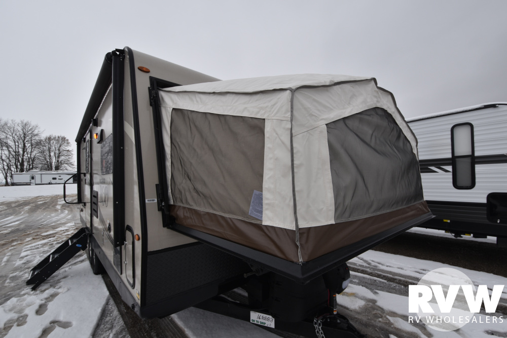 Click here to see the New 2020 Rockwood Roo 23FK Hybrid Camper by Forest River at RVWholesalers.com