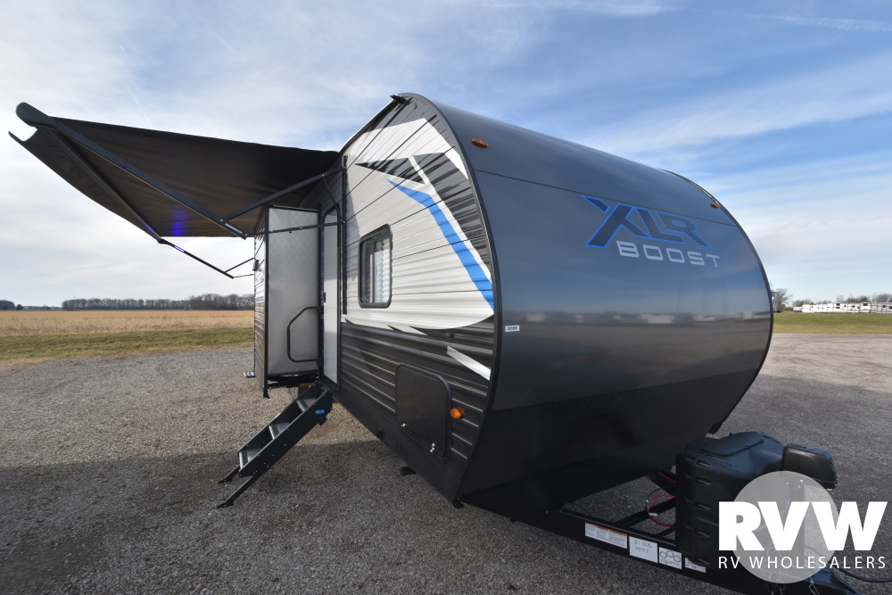 Click here to see the New 2020 XLR Boost 31QB Toy Hauler Travel Trailer by Forest River at RVWholesalers.com