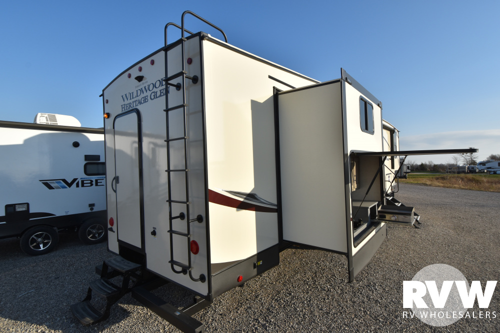 Click here to see the New 2021 Heritage Glen LTZ 356QB Fifth Wheel by Forest River at RVWholesalers.com