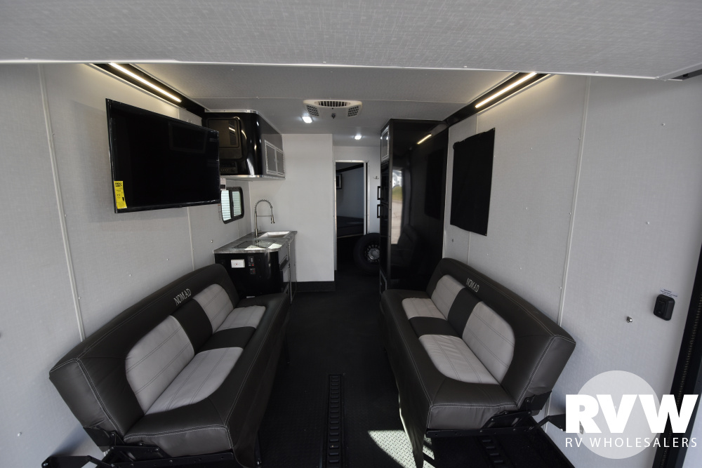 Click here to see the New 2021 Nomad 28NQB Toy Hauler Travel Trailer by Stealth at RVWholesalers.com