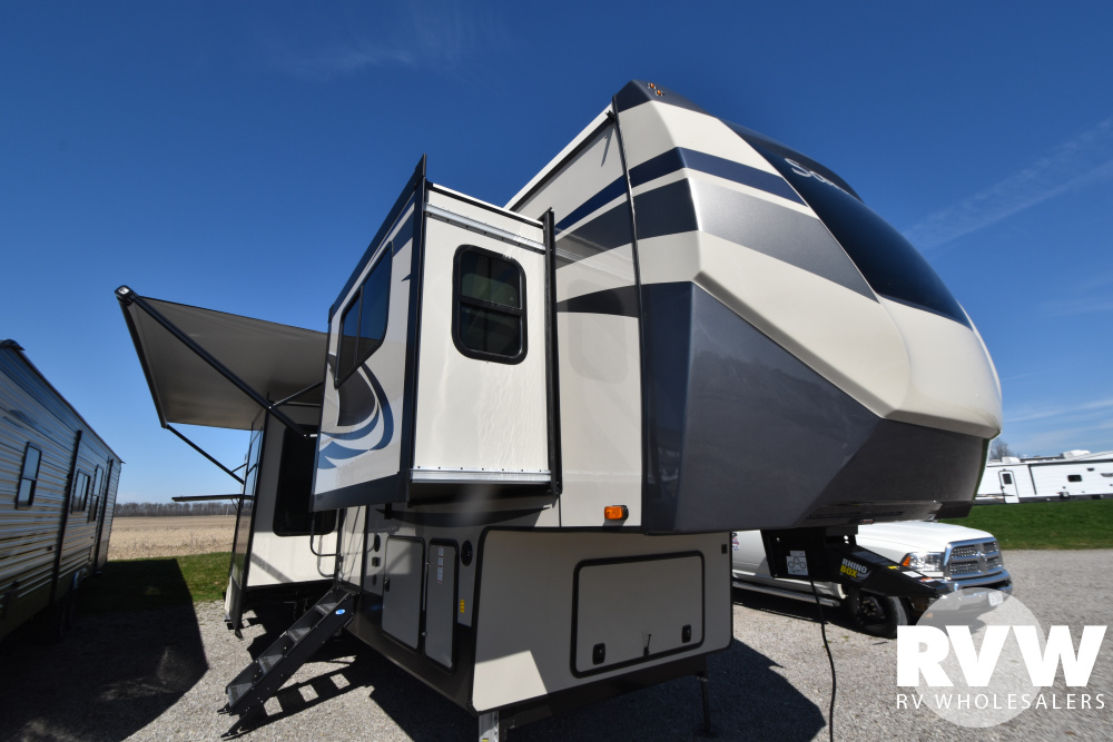Click here to see the New 2021 Sandpiper 379FLOK Fifth Wheel by Forest River at RVWholesalers.com