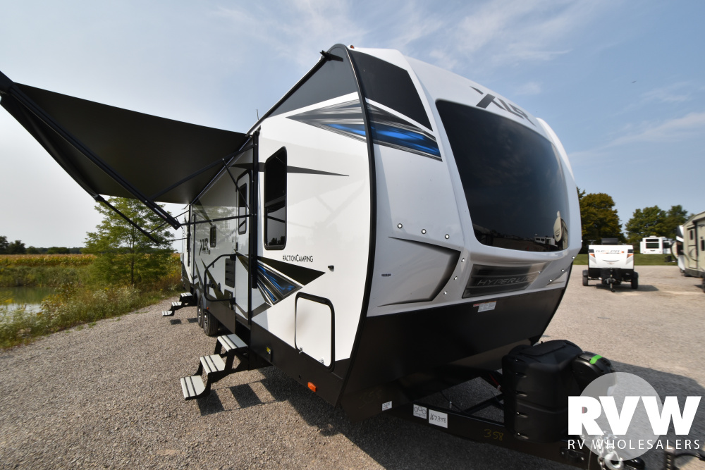 Click here to see the New 2021 XLR Hyper Lite 3212 Toy Hauler Travel Trailer by Forest River at RVWholesalers.com