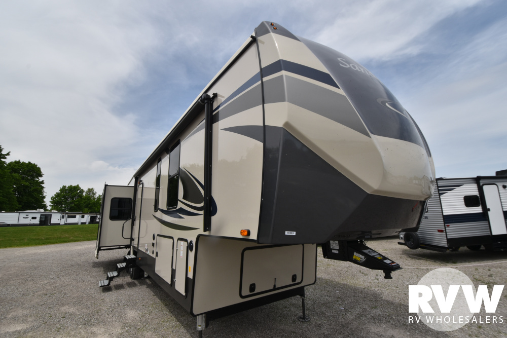 Click here to see the New 2021 Sandpiper 372LOK Fifth Wheel by Forest River at RVWholesalers.com