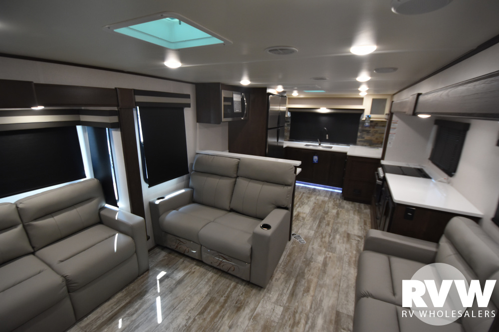 Click here to see the New 2021 XLR Nitro 405 Toy Hauler Fifth Wheel by Forest River at RVWholesalers.com
