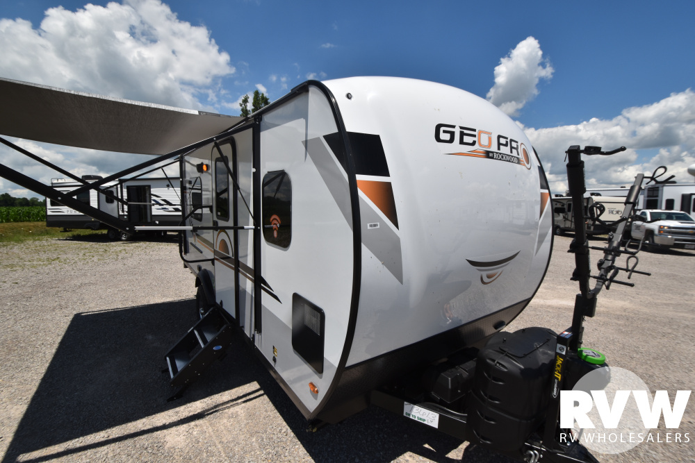 Click here to see the New 2021 Rockwood Geo Pro G19TH Toy Hauler Travel Trailer by Forest River at RVWholesalers.com