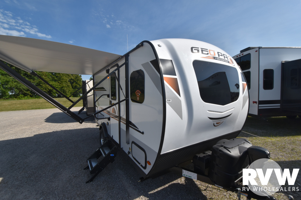 Click here to see the New 2021 Rockwood Geo Pro G16BH Travel Trailer by Forest River at RVWholesalers.com