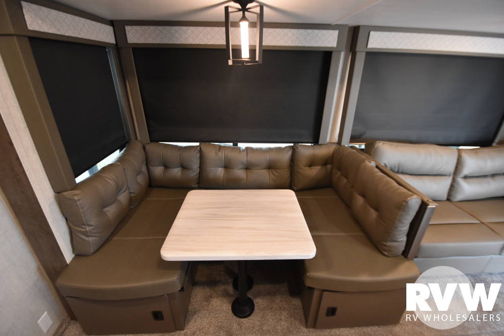 Click here to see the New 2021 Wildwood DLX 42QBQ Park Trailer by Forest River at RVWholesalers.com
