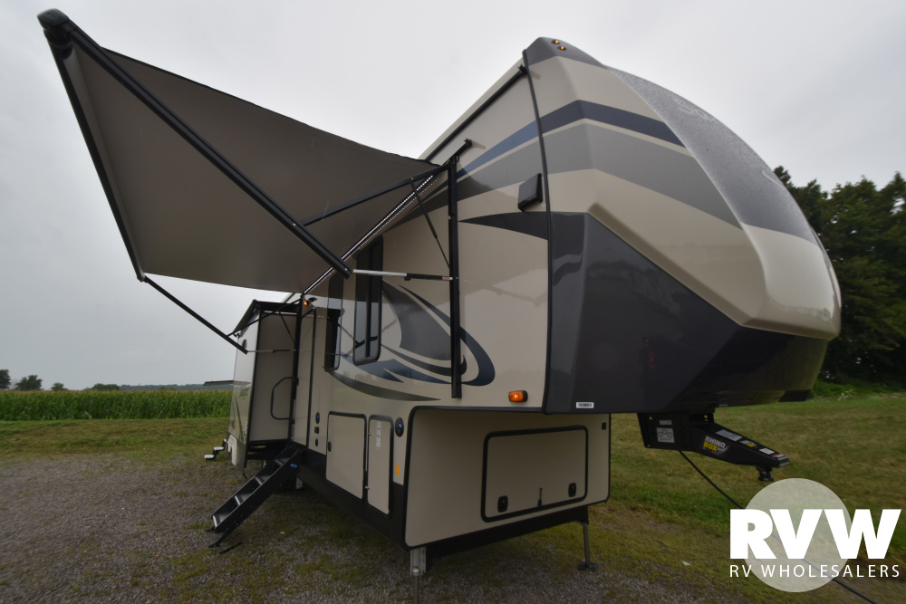 Click here to see the New 2021 Sandpiper 383RBLOK Fifth Wheel by Forest River at RVWholesalers.com