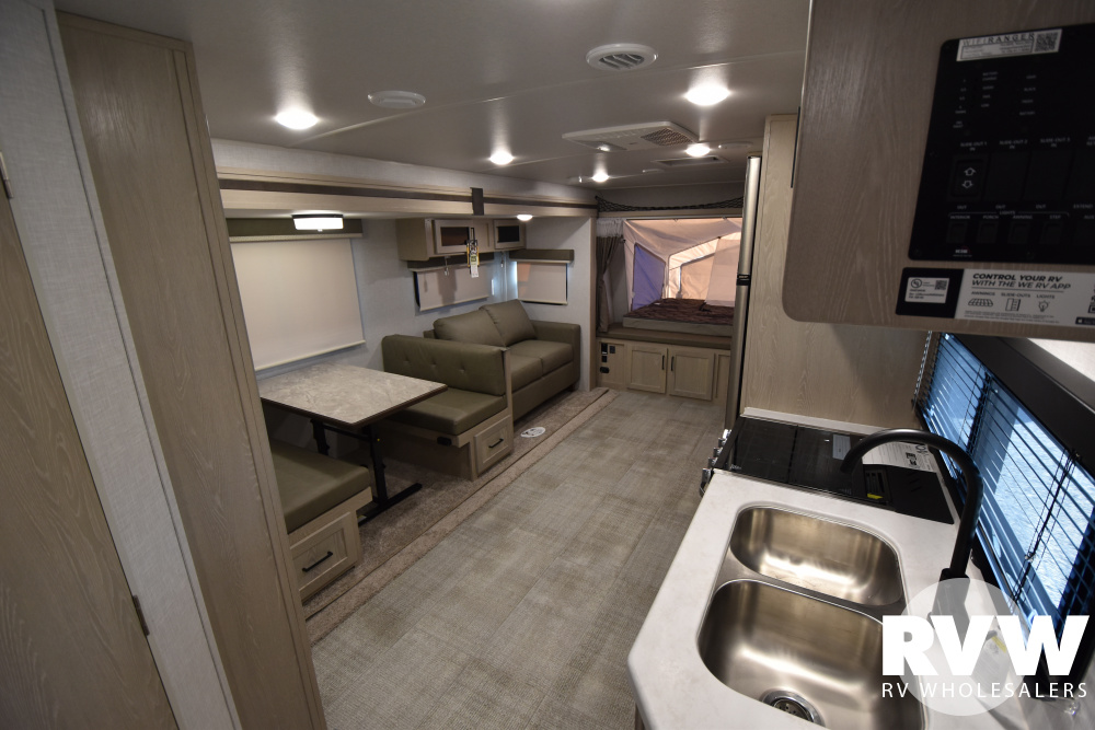 Click here to see the New 2021 Rockwood Roo 235S Hybrid Camper by Forest River at RVWholesalers.com