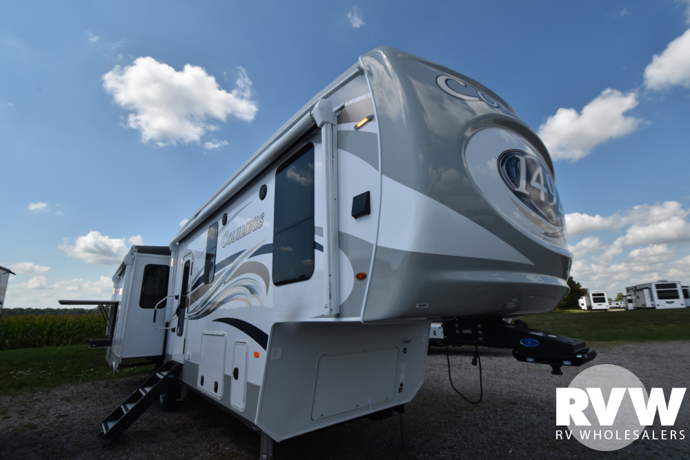 Click here to see the New 2021 Columbus 1492 366RL Fifth Wheel by Palomino at RVWholesalers.com