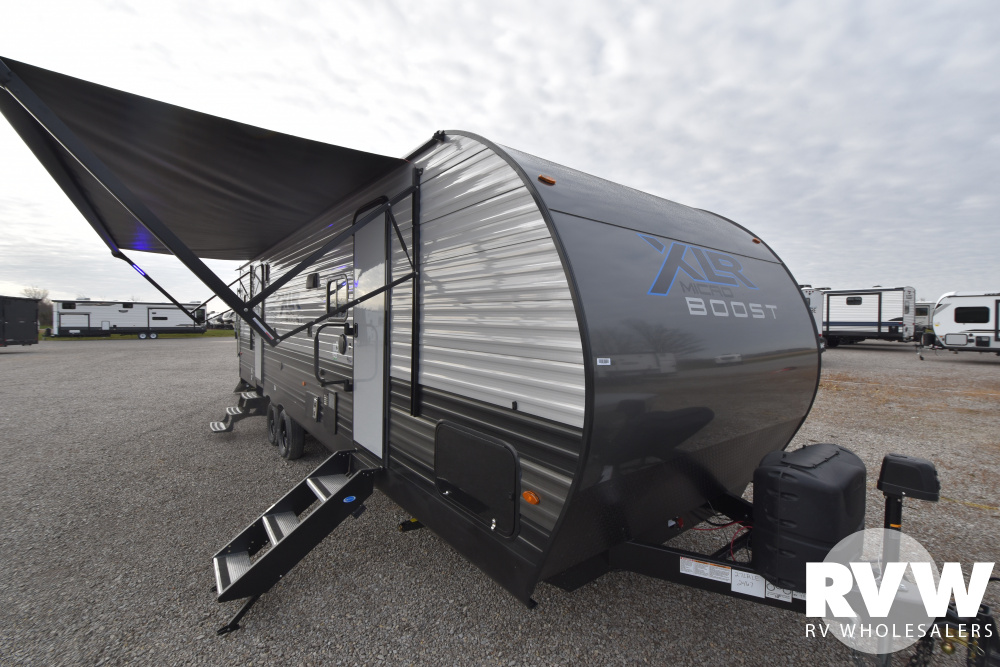 Click here to see the New 2021 XLR Micro Boost 27LRLE Toy Hauler Travel Trailer by Forest River at RVWholesalers.com