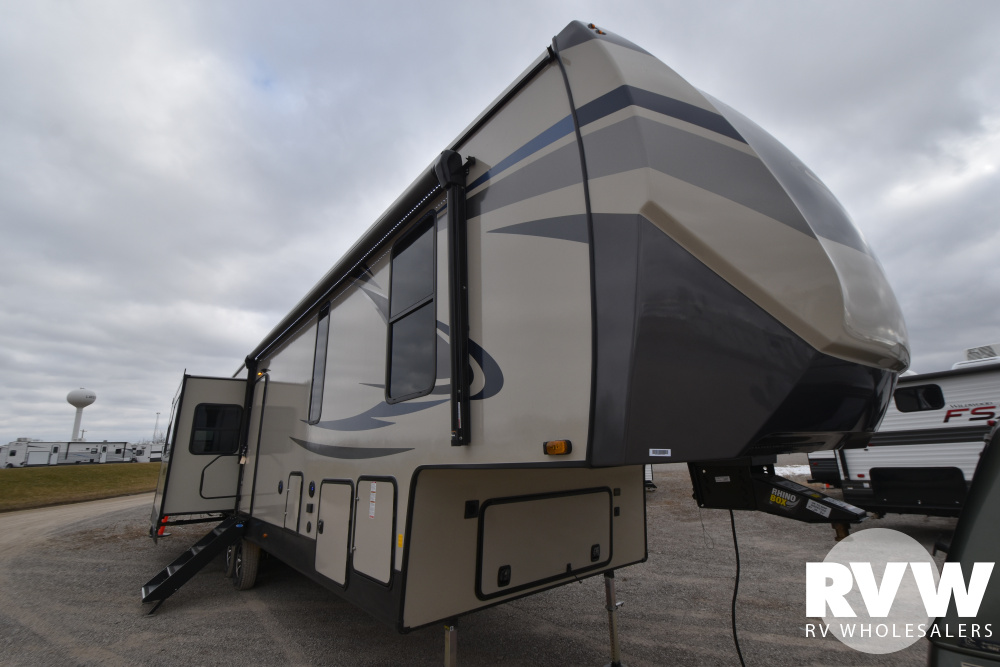 Click here to see the New 2021 Sandpiper C-Class 3660MB Fifth Wheel by Forest River at RVWholesalers.com