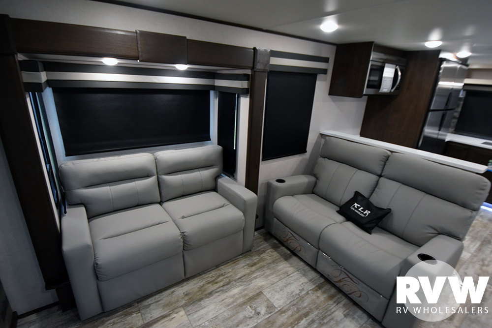 Click here to see the New 2020 XLR Nitro 405 Toy Hauler Fifth Wheel by Forest River at RVWholesalers.com