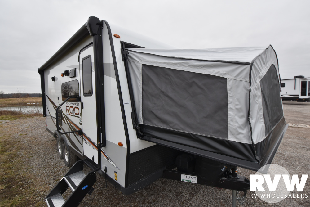 Click here to see the New 2021 Rockwood Roo 183 Hybrid Camper by Forest River at RVWholesalers.com
