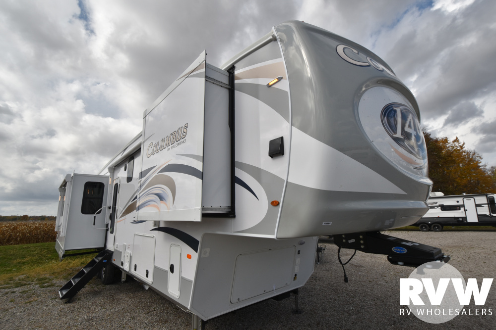Click here to see the New 2021 Columbus 1492 382FB Fifth Wheel by Palomino at RVWholesalers.com