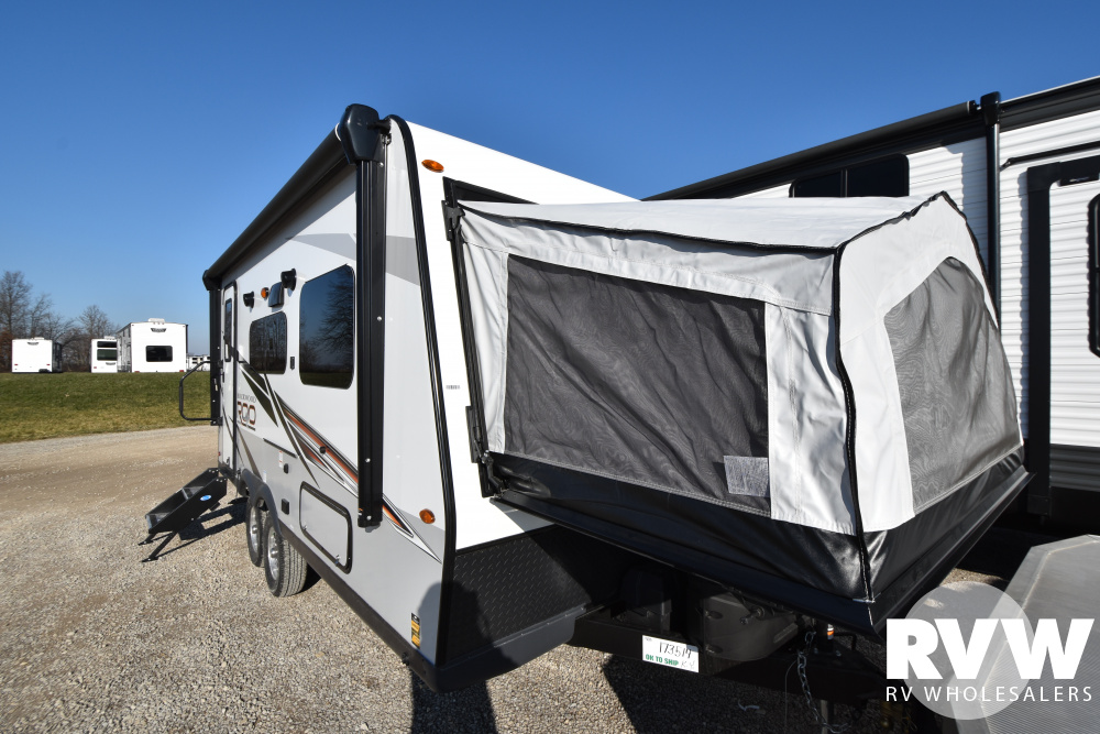 Click here to see the New 2021 Rockwood Roo 19 Hybrid Camper by Forest River at RVWholesalers.com
