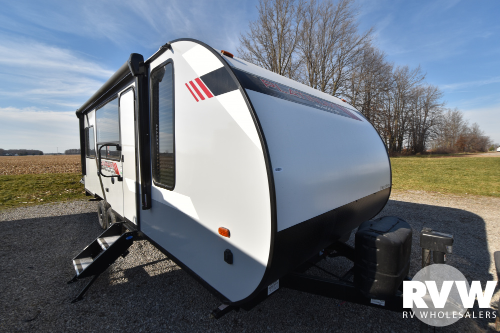 Click here to see the New 2021 Wildwood FSX 190RT Toy Hauler Travel Trailer by Forest River at RVWholesalers.com