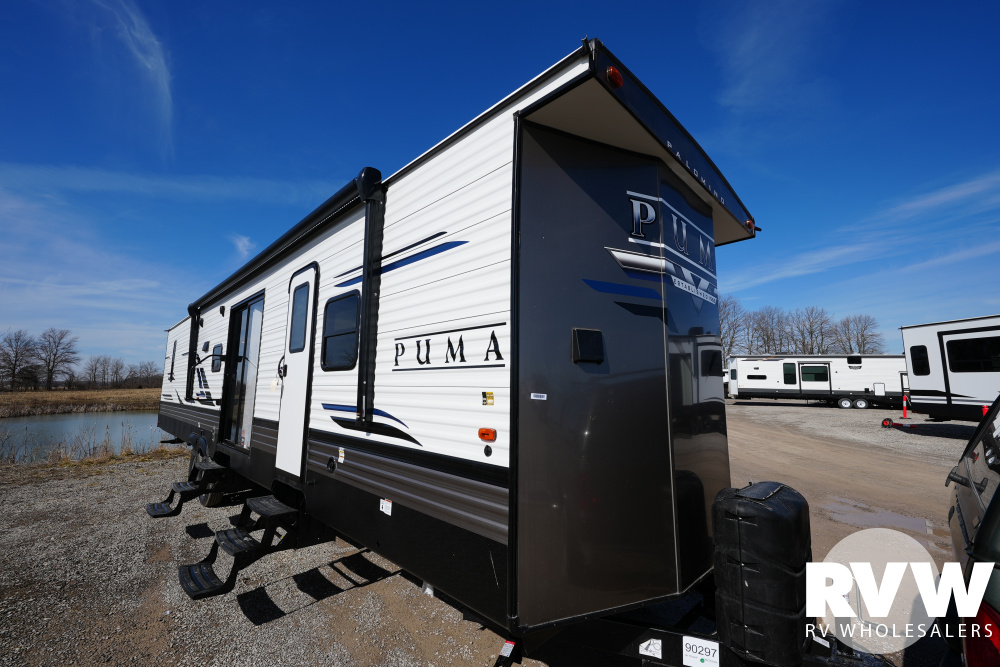 Click here to see the New 2021 Puma Park 39DBT Park Trailer by Palomino at RVWholesalers.com