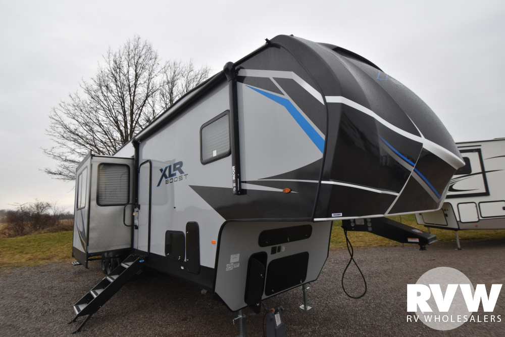 Click here to see the New 2021 XLR Boost 37TSX13 Toy Hauler Fifth Wheel by Forest River at RVWholesalers.com