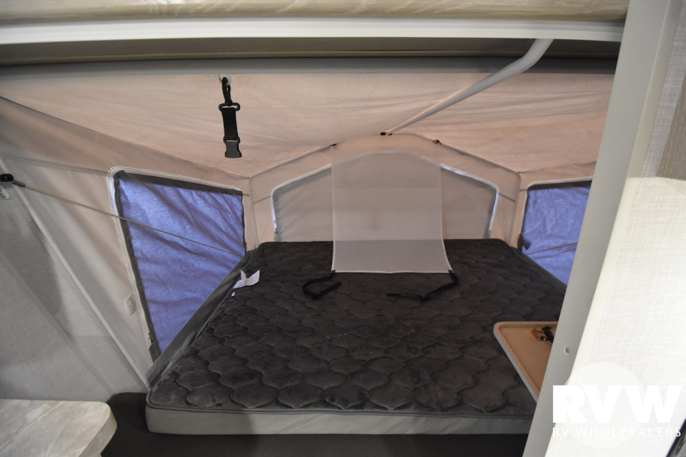 Click here to see the New 2021 Rockwood Roo 23FK Hybrid Camper by Forest River at RVWholesalers.com