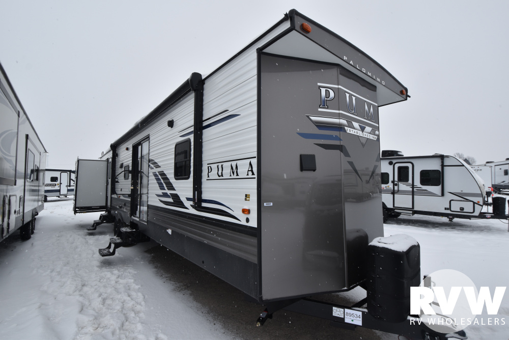 Click here to see the New 2021 Puma Park 39PQB Park Trailer by Palomino at RVWholesalers.com