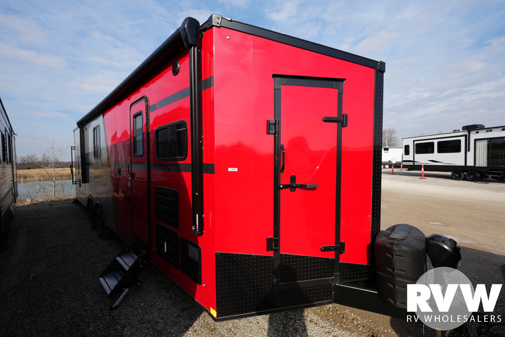 Click here to see the New 2021 Nomad 28ANFK Toy Hauler Travel Trailer by Stealth at RVWholesalers.com