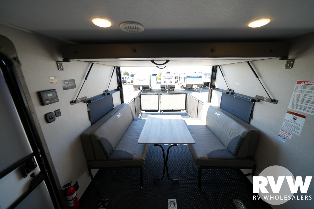Click here to see the New 2022 XLR Micro Boost 27LRLE Toy Hauler Travel Trailer by Forest River at RVWholesalers.com