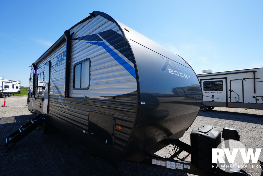 Click here to see the New 2021 XLR Boost 27QB Toy Hauler Travel Trailer by Forest River at RVWholesalers.com
